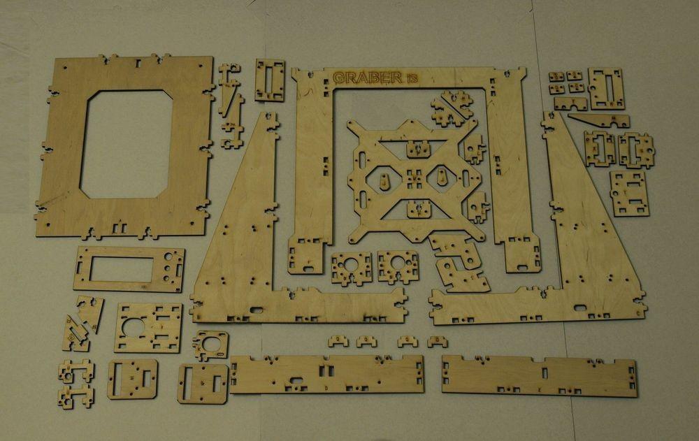 3D-Printer-Reprap-Mendel-Graber-I3-Frame-Laser-Cut-6mm-PlyWood-Screws-kit-set-6mm-thickness (2)