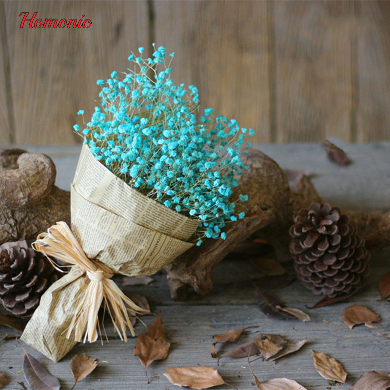 Pequeñas flores secas flores Artificiales flores secas naturales gypsophila la R