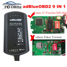 AdBlue Эмулятор системы коробка 9 в 1 для мужчин/MB/SCANIA/IVECO/DAF/VOLVO/RENAULT/CUMMINS AdBlue 9в1 SCR& NOX+ версия Полный чип