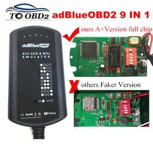 Image 1 - AdBlue boîtier de système émulateur 9 en 1, pour hommes, MB/SCANIA/IVECO/DAF/VOLVO/RENAULT/CUMMINS AdBlue, 9 en 1 SCR & NOX A + puce complète