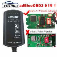 AdBlue Emulator System Box 9 IN 1 For MEN/MB/SCANIA/IVECO/DAF/VOLVO/RENAULT/CUMMINS AdBlue 9in1 SCR&NOX A+Version Full Chip