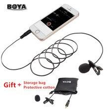 BOYA BY-LM10 смартфон всенаправленная нагрудная гарнитура с микрофоном для телефона аудио видео Запись для iPhone 6 6s 5 Sumsang S6 S5 S4 htc