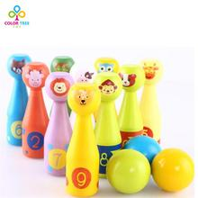Children Bowling Toys Baby Animal Figures Bowling Set Interactive Game Parent-child Early Childhood Educational Toys