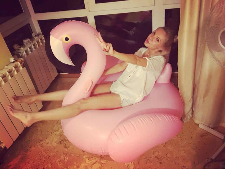 150 см надувной бассейн-Фламинго поплавок бассейн кольцо надувной фламинго плавательный круг Плавающий надувной матрас ШК