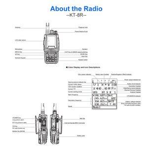 Image 4 - Qyt クワッドバンドハンドヘルド双方向ラジオ KT 8R 4 バンド屋外インターホン kt 8R uv 2 ウェイラジオ KT8R 色ディスプレイ 5 ワットトランシーバ