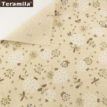 Лен Ткань цветы конструкции teramila Текстиль для дома хлопок
