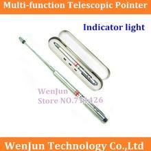 Yeni Geldi Çok fonksiyonlu Teleskopik işaretçi Kırmızı ışık Göstergesi Beyaz işık Ball pen 1 ADET