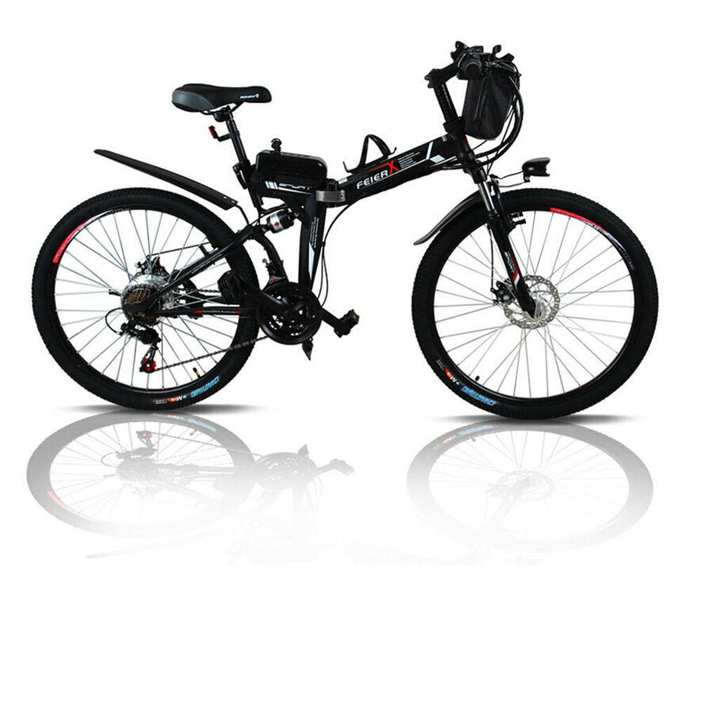 LOVELION Free shipping 24 And 26 Inches Electric Folding Bicycle Lithium Battery Electric Vehicle Mountain Bike Instead Walking
