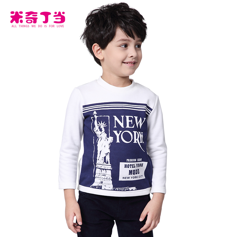 MIQIDIDA Kids Boys Clothing New York Statue of Liberty Painting Long Sleeve T  Shirt for Boy 1421190 8bbe66f87f9