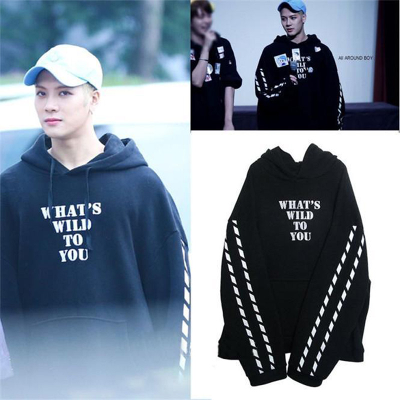 Kpop GOT7 Jackson WINNER One The Same Cap Hoody WHAT'S A WILD TO YOU Fall Winter Women Hoodies Long Sleeve Pullover Outerwears