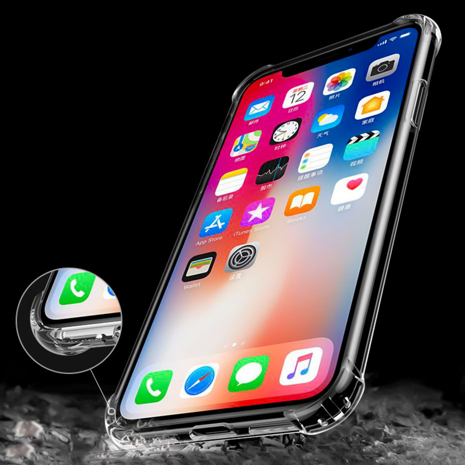 YWEWBJH Phone Cases For iPhone 5 6 6s 7 8 X XS max XR Case Soft Transparent Silicone Clear Plus
