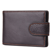 все цены на J.M.D Cow Leather Men's Wallet Coffee Cow Leather Short Business Card Wallet 8156C онлайн