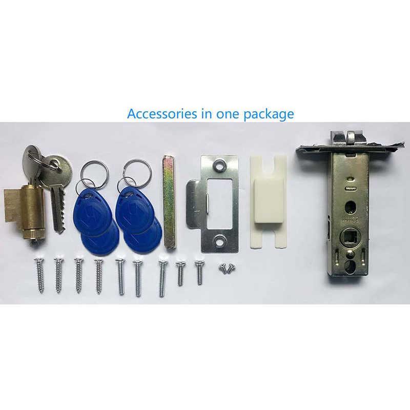 Lachco Kunci Pintu Elektronik Layar Sentuh Kata Sandi 4 Kartu, digital Kode Keyless Kunci Baut Smart Door Lock Smart Home A19073BS