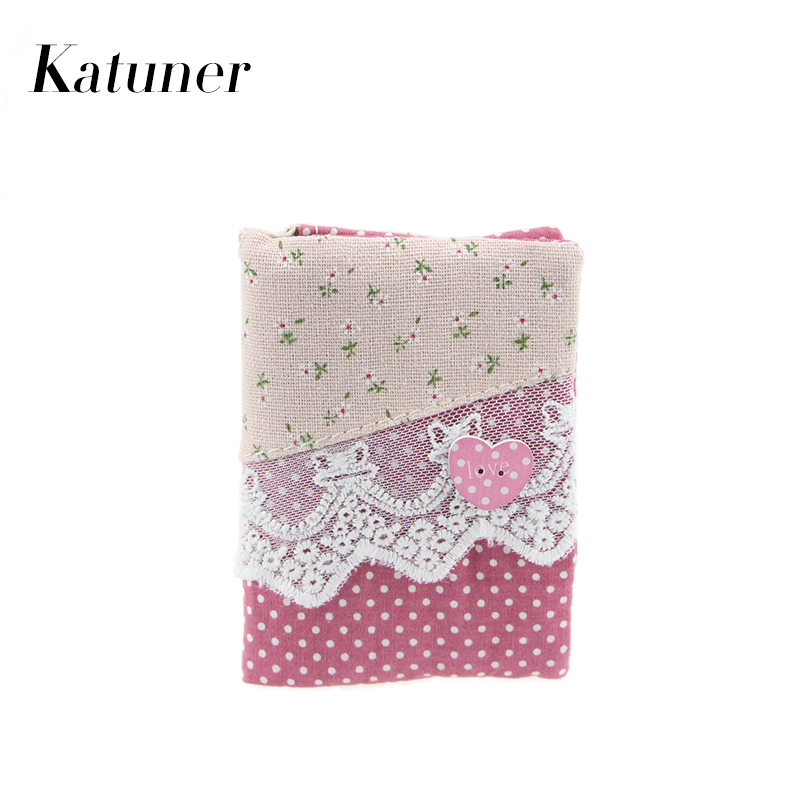 Katuner New 16 Bits Fresh Floral Card Holder Female Canvas Creditcard Wallet Women ID Holder Bag Ladies String Cardholder KB009 ...