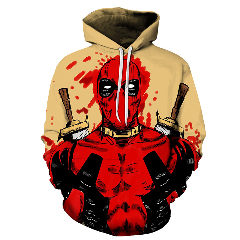 Dropshipping Autumn Sweatshirts Suicide Squad 3D Printing Deadpool Hoodies Long sleeve hoodie Pullover For Men's Women's Tops