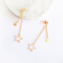 Lovely fashion stars long earrings Young girl deserve to act the role of stud earrings The earrings