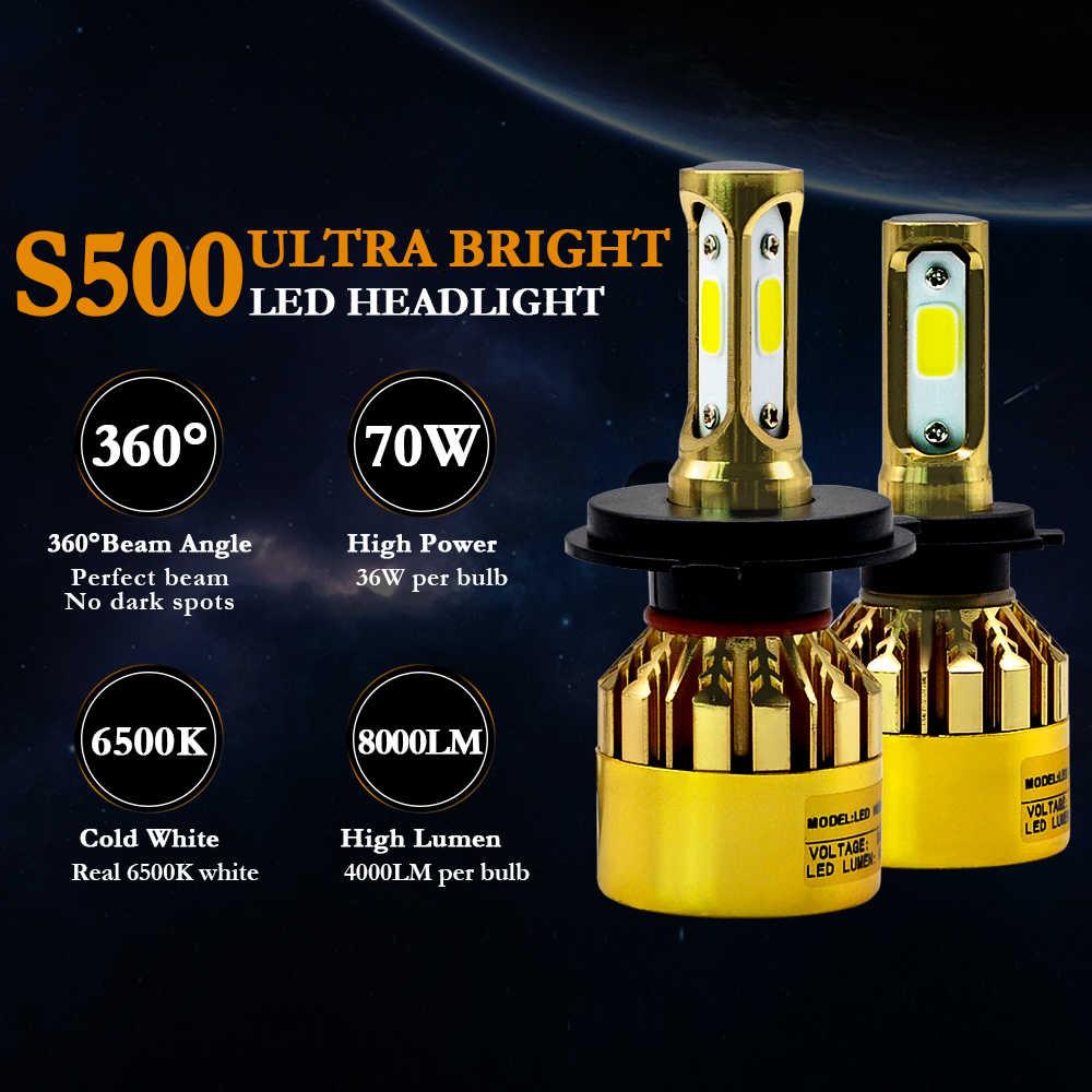 2Pcs H11 LED H7 H4 H1 ไฟหน้ารถหลอดไฟ H3 HB4 H8 HB3 H27 9005 9006 881 ไฟ LED หมอกไฟ 8000LM 3000 K 4300 K 6500 K รถ LED LIGHT