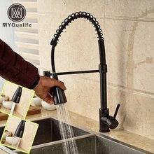 Современные тянуть Abrigos de plumas кухня смеситель для одной ручкой ручной опрыскиватель глава кухня ванной кран на бортике
