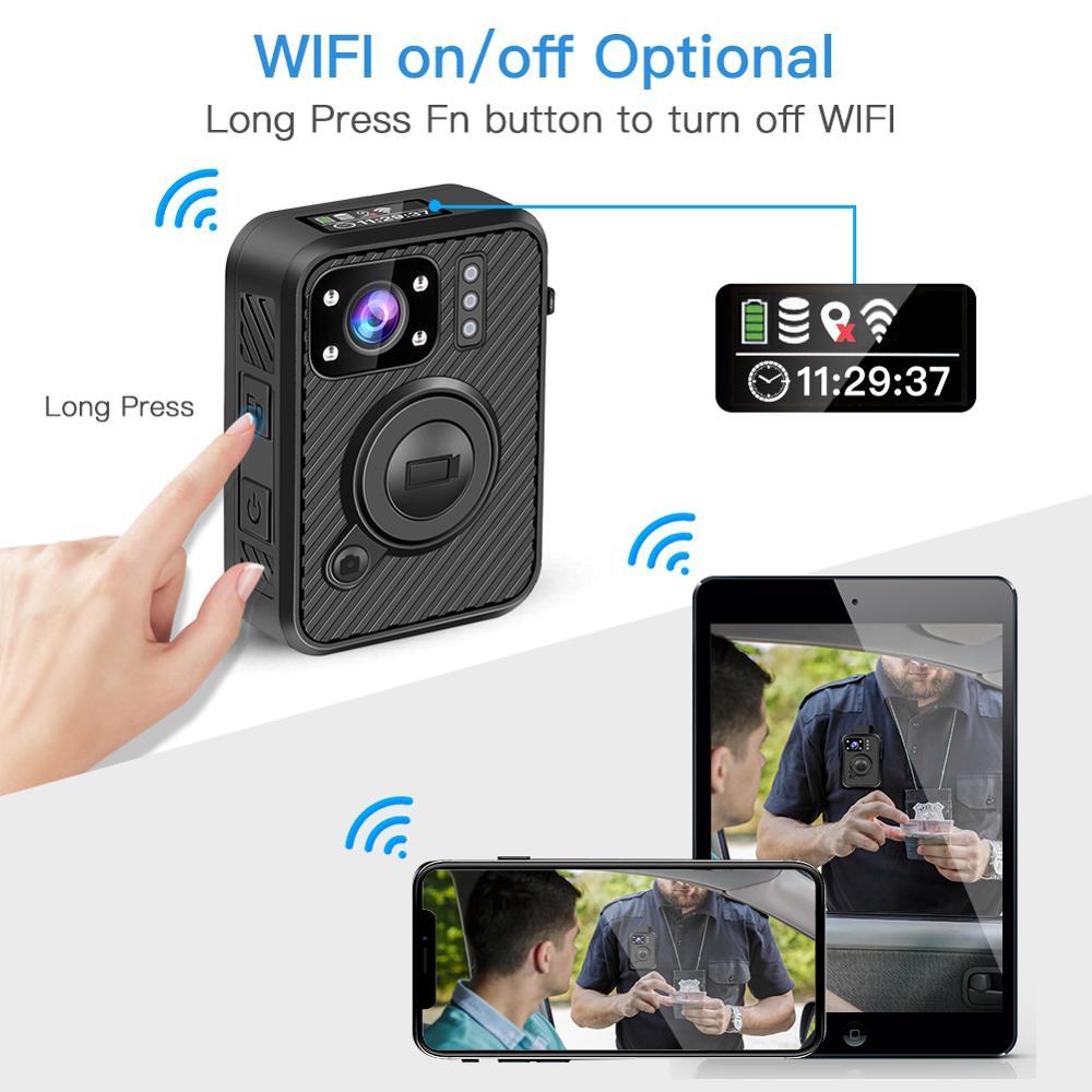 BOBLOV Wifi полицейская камера 64 GB F1 Body Kamera 1440 P изношенная камера s для обеспечения безопасности 10 H запись gps видеорегистратор с режимом ночной съемки рекордер - 3