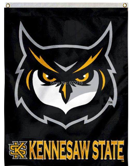 Kennesaw State Ksu Owls House College Large Outdoor Flag 3ft X 5ft