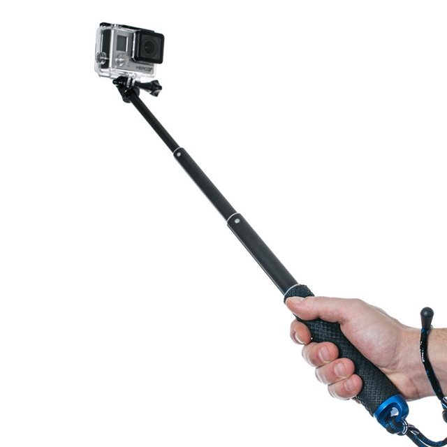 0bee257d878cf5 Aluminum Extendable selfie stick monopod For gopro hero 4 3+ 3 2 sj4000  sj5000 sj6000