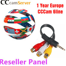CCcam реселлер панель HD Cccams Cline на 1 год Европа спутниковая Ccam аккаунт FHD IKS 1 год ТВ кабель