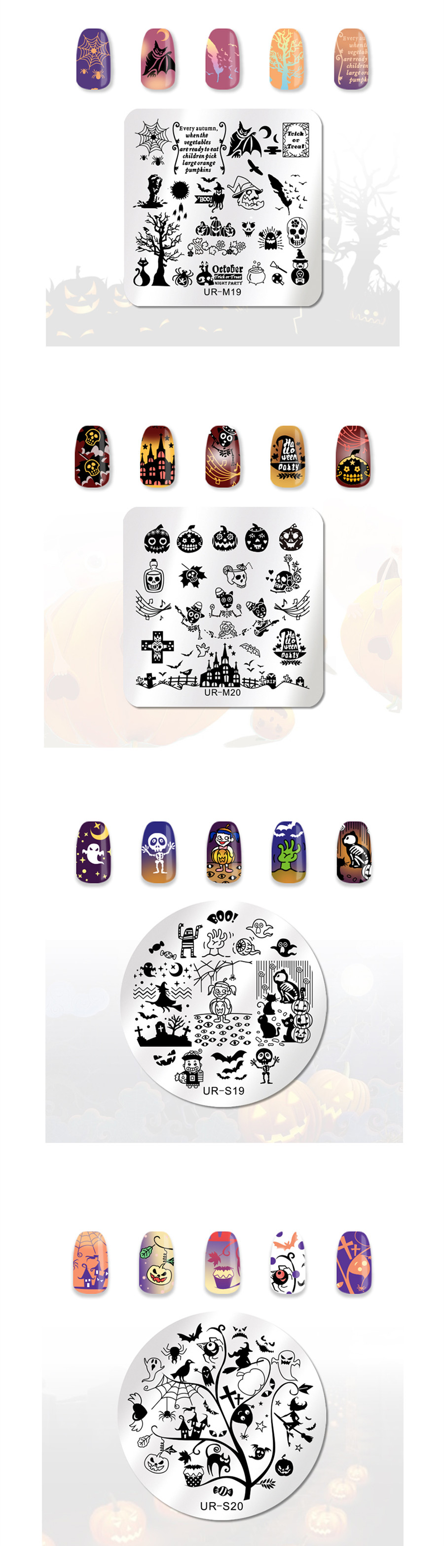 Dreamcatcher Floral Nail Stamping Plates Spider Halloween Template Nail Art  Stamping Image Plates _1