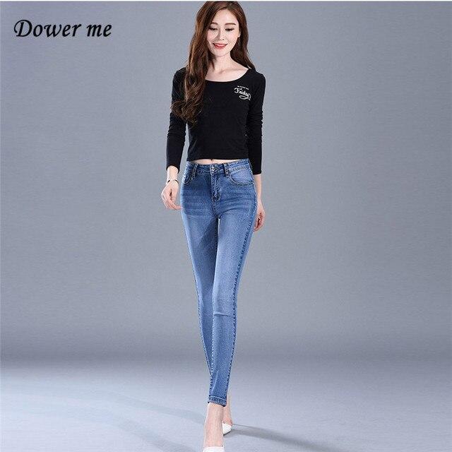 online shop plus size elegant pure color women jeans pants casual
