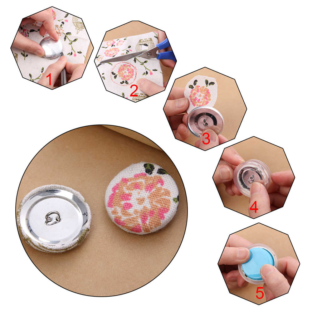 1 set Multifunction Fashion Creative DIY Bag Cloth Buckle Set bag Buckle Machine Press Cloth Buttons Base Semi-finished Crafts