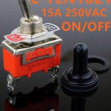 1 шт. хорошее качество E-TEN1021 2-контактный SPST 2 терминал ВКЛ-ВЫКЛ 15A 250 В тумблер оранжевый