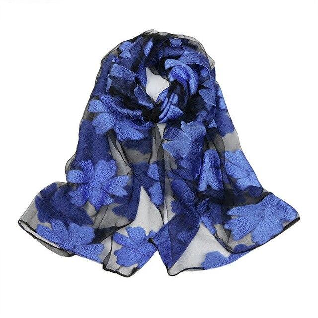 837aea61bbf27 Spring Silk Scarf Fashion Accessories Elegant Organza Scarf Wrap Lightweight  Long Scarves S9077