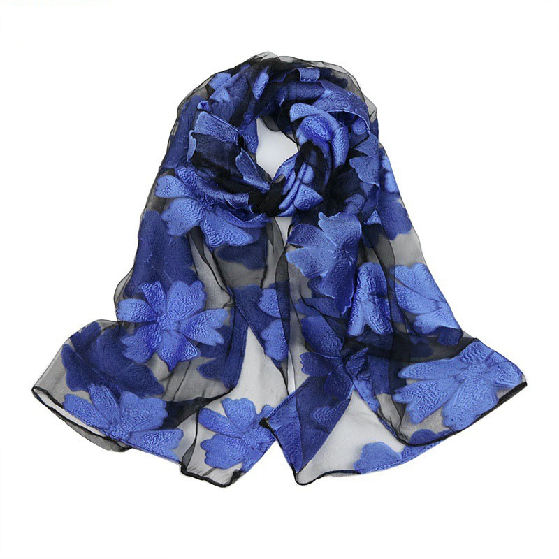 Spring Silk   Scarf   Fashion Accessories Elegant Organza   Scarf     Wrap   Lightweight Long   Scarves   S9077