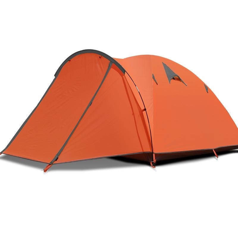 FLYTOP Camping tente 4 saison en plein air famille Camping tente ultra-légère Portable Camping tentes Double couche étanche Camping tente