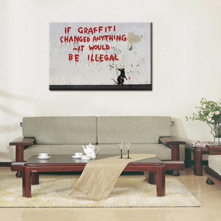 Модные граффити плакат серии холст стены искусства изображения для украшения дома 1 панели для гостиной оптом/абстрактные-102