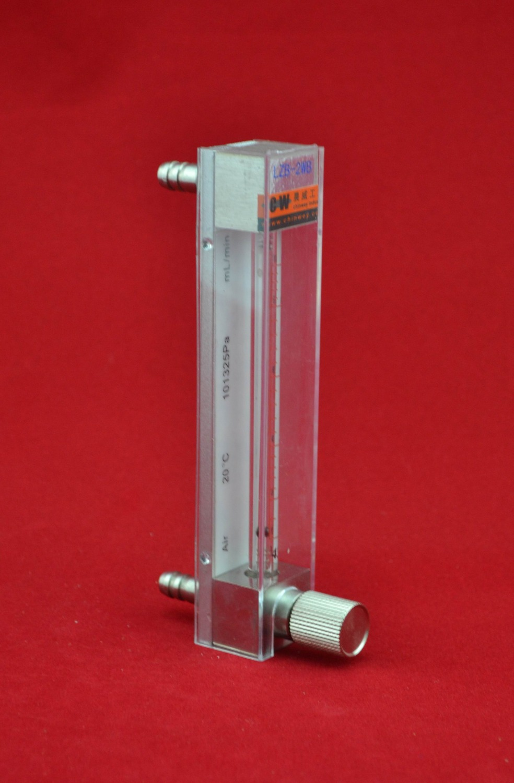 LZB -3, stiklinis dujų / oro srauto matuoklio rotometras su valdymo vožtuvu. mažas matavimo diapazonas, jis gali reguliuoti srautą