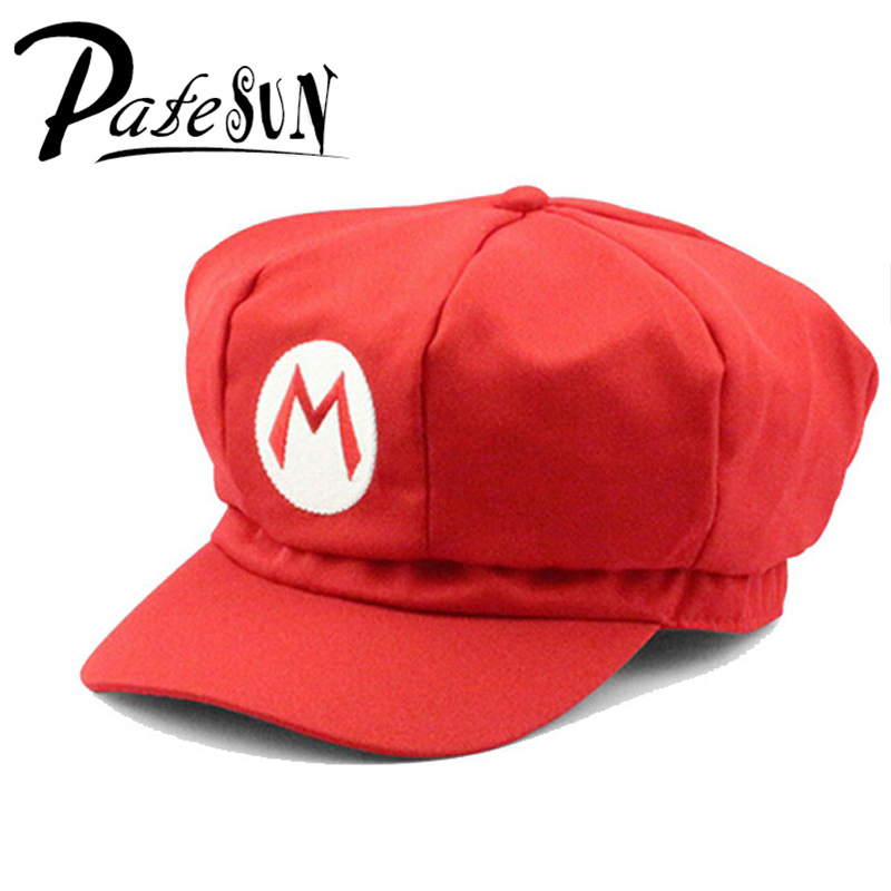 New Super Mario Cotton Caps Red Hat Mario and Luigi cap 5 colors Anime Cosplay Costume Halloween buckle hats Adult Hats Caps chemo skullies satin cap bandana wrap cancer hat cap chemo slip on bonnet 10 colors 10pcs lot free ship