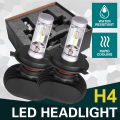 Oslamp Hi-Lo Beam H4 Car Led Fog Bulbs 6500K LED Car Headlight Kits 2WD 4WD Auto Led Head Light SUV 50W/Pair Fan-less CREE Chips