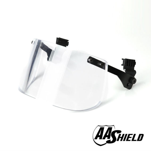 AA Shield Ballistic Visor Face Bulletproof Glass Mask For Fast Helmet Body Armor Mask Lvl IIIA 3A