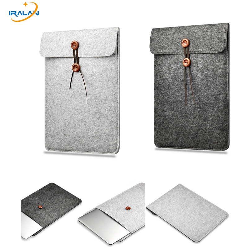 2019 New Wool Felt Notebook Case For Apple Macbook Air Pro Retina 11 12 13 15 13.3 Inch Protective Laptop Sleeve Briefcase Cover