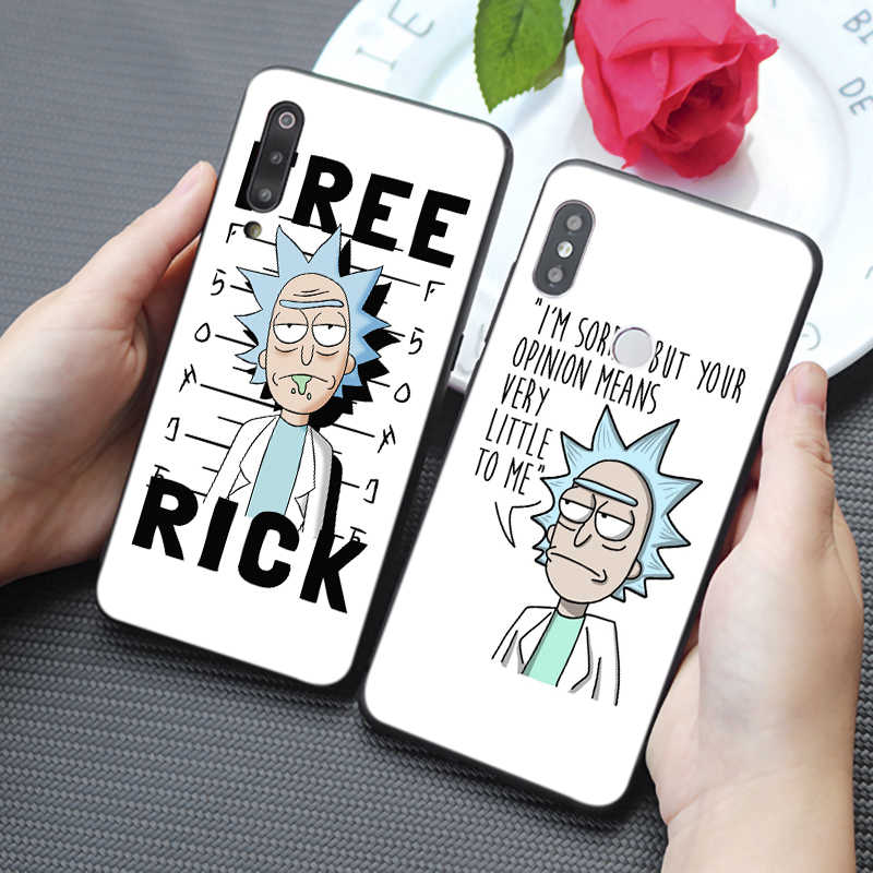 Funny Rick and Morty Cartoon  Cute  Comic Soft Silicone Phone Case for samsung galaxy a50  a70 a30 a40 a20 s8  s9 s10 plus