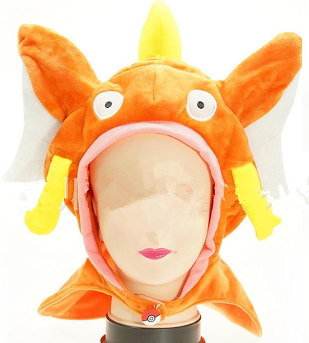 Anime Poke mon Magikarp Plush Hat Monsters Magikarp cap Plush Winter warm hat Cosplay Magikarp hat Caps , [ In Stock : 3 style ]