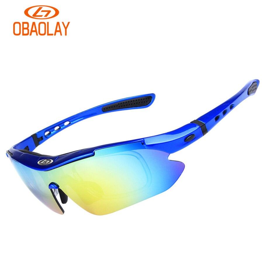Prix pour OBAOLAY Vélo Lunettes 5 Objectif Vélo Lunettes Polarisées Avec Myopie Cadre Sport En Plein Air lunettes de Soleil Lunettes Accessoires