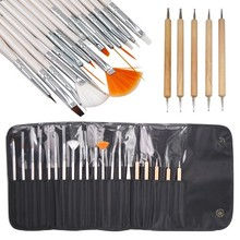 20pcs Brush UV Gel Nail Art Design Painting Drawing Dotting Pen Brushes Tools Kit Set styling