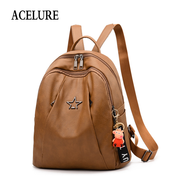 a658e5231d09 ACELURE Fashion Backpacks Women Oxford+PU Leather Backpack Female school  Shoulder bags for teenage girls