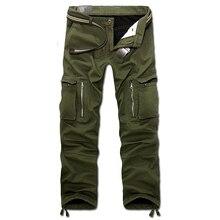Trasporto di goccia 2020 nuovi uomini di inverno pantaloni del carico degli uomini di pantaloni larghi pantaloni pantaloni 3 colori 28 40 senza cinghia AXP112