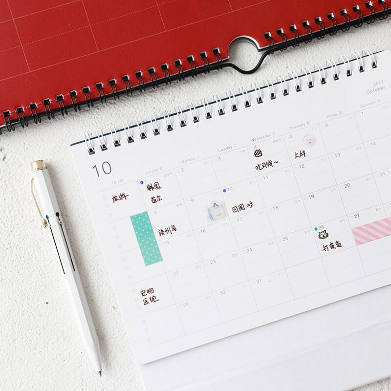 personalized print calendar monthly weekly pin desk or large apple