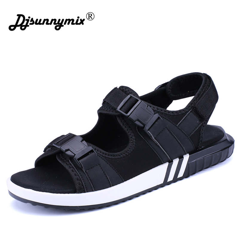 DJSUNNYMIX 2018 Summer Men Casual Sandals black Fashion Breathable Soft unisex Beach Shoes Super Non-slip Flip Flops