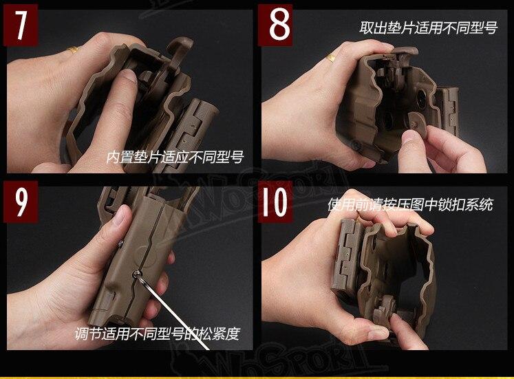 Tactical quick-atuando dispositivo pistola Tática cintura manga