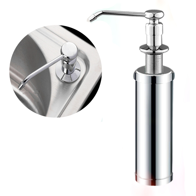 Copper head + stainless steel 220ml Manual push sink Soap Dispenser capacity detergent bottle for kitchen bathroom suppliesCopper head + stainless steel 220ml Manual push sink Soap Dispenser capacity detergent bottle for kitchen bathroom supplies