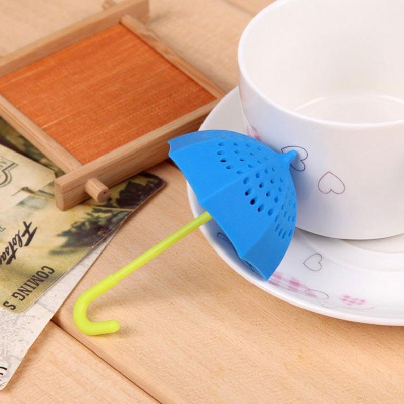 Umbrella Herbal Leaf Tea Infuser Submarine Silicone Tea Infuser Loose Leaf Strainer Filter Diffuser Spice Drinking Tea Strainer